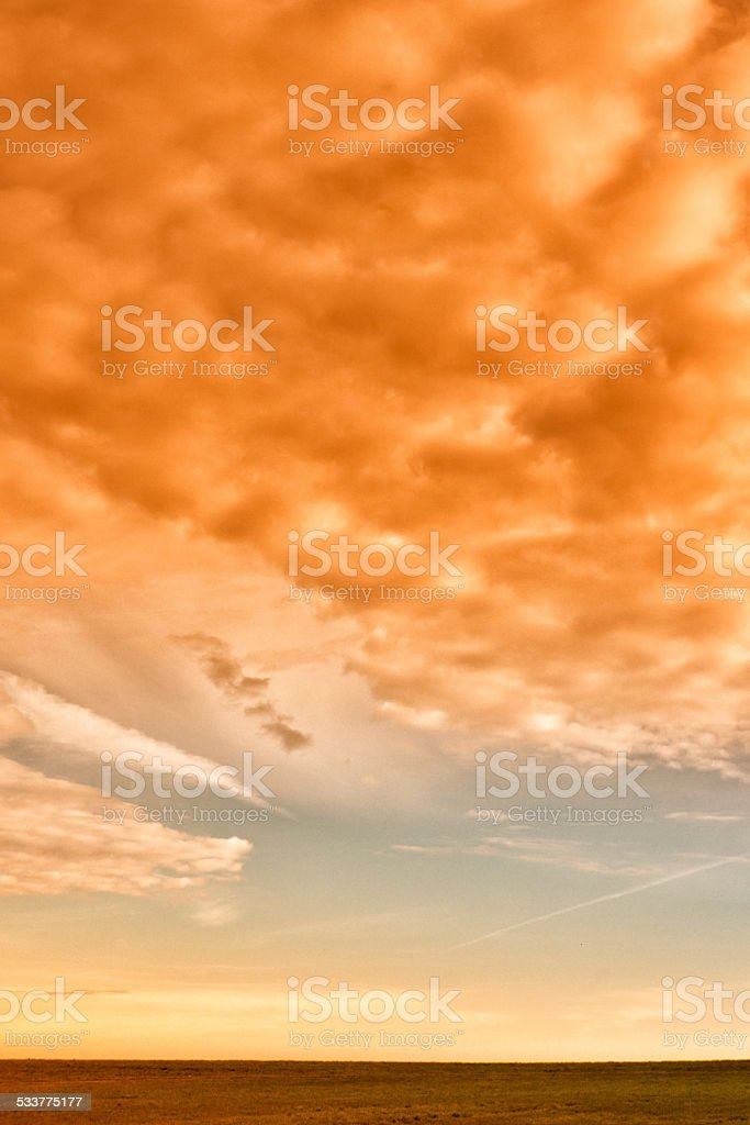 landscape with interesting sky stock photo