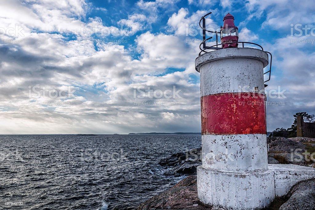 Landscape with Lighthouse stock photo
