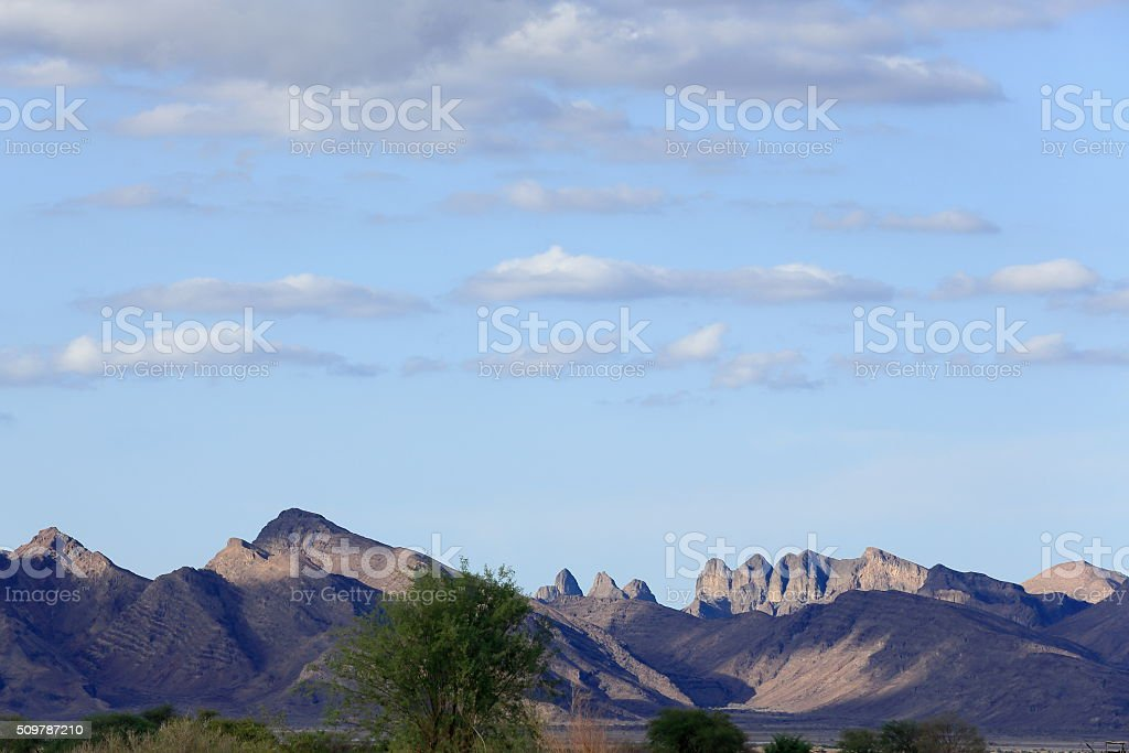 Landscape with mountains-SE.section of Danakil desert. Afar region-Ethiopia. 0130 stock photo