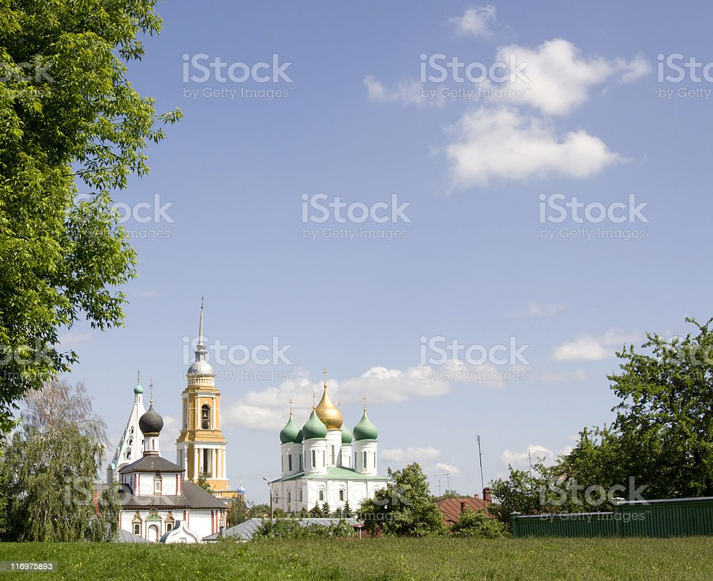 landscape with orthodox churches royalty-free stock photo