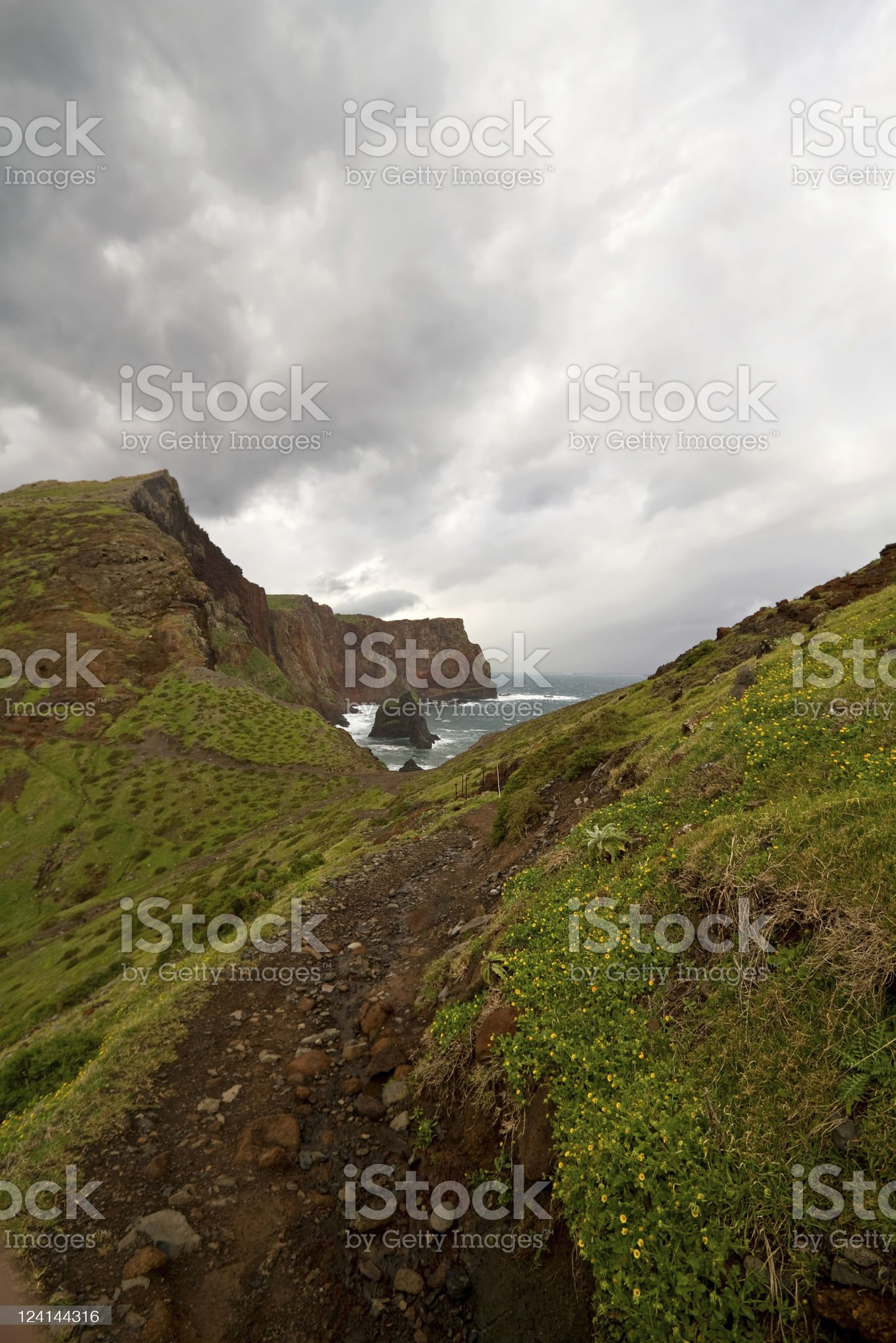 Landscape with rugged terrain. royalty-free stock photo