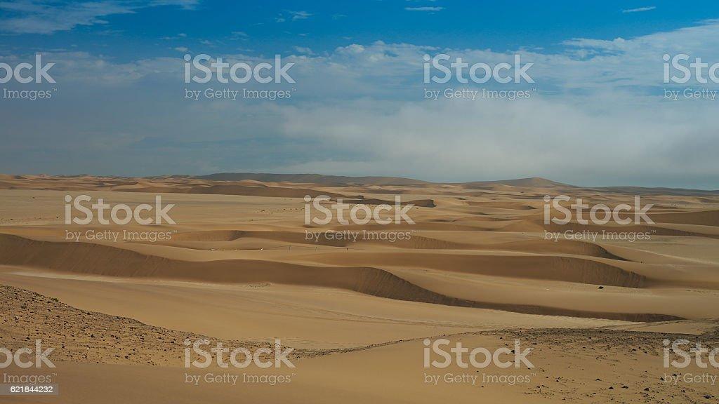 Landscape with sand dunes near Swakopmund, Namibia stock photo