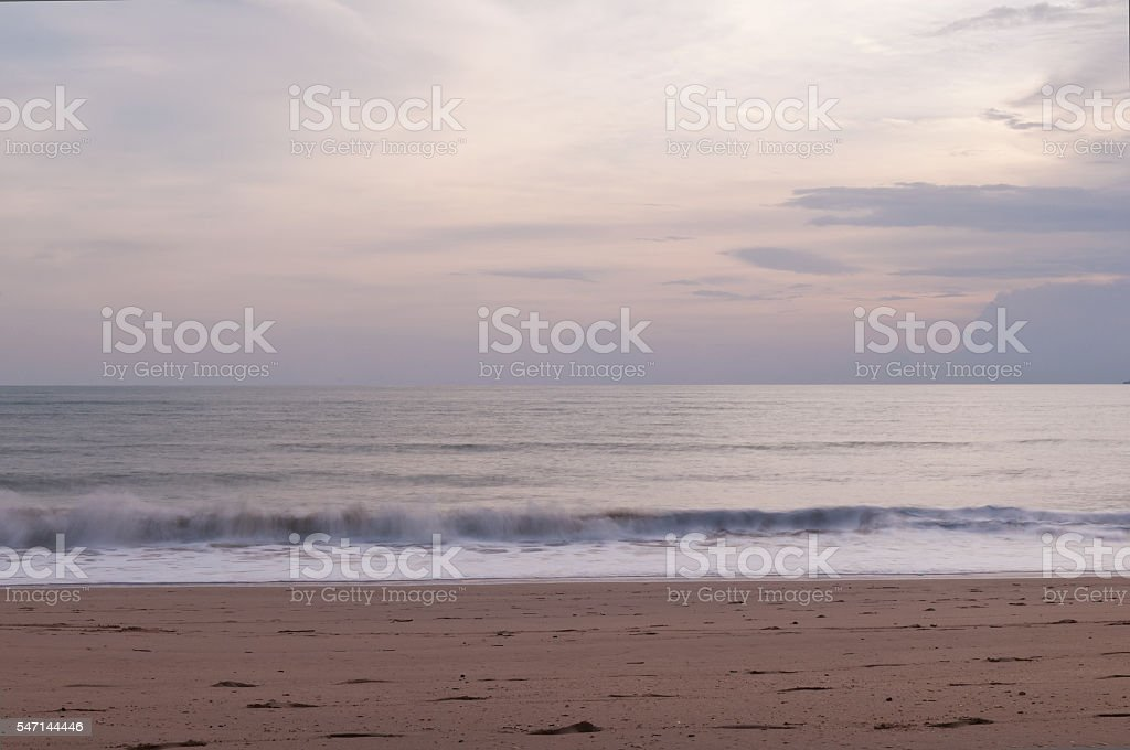 Landscape with sea and sky stock photo
