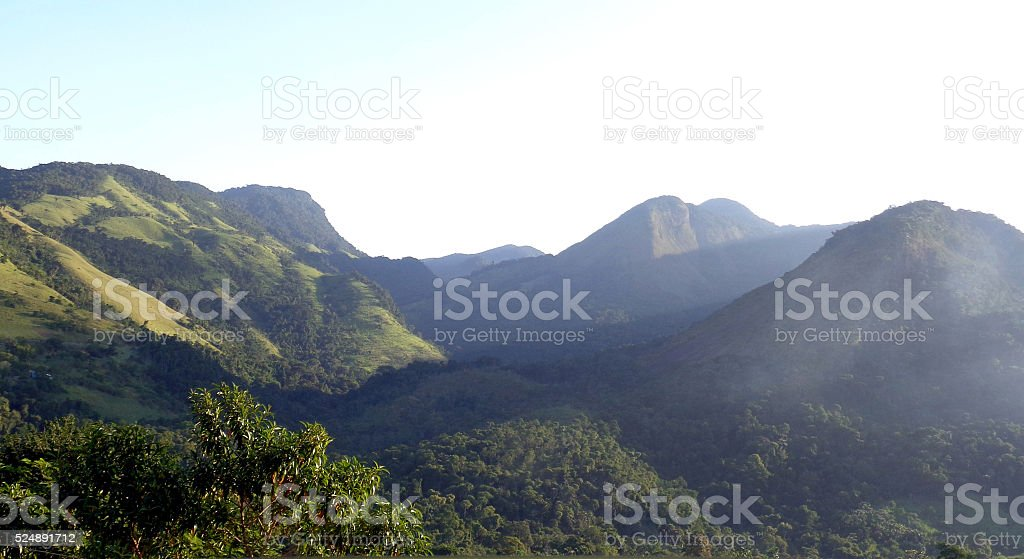 Landscape with Parque Nacional da Serra da Bocaina, Paraty, Brazil stock photo