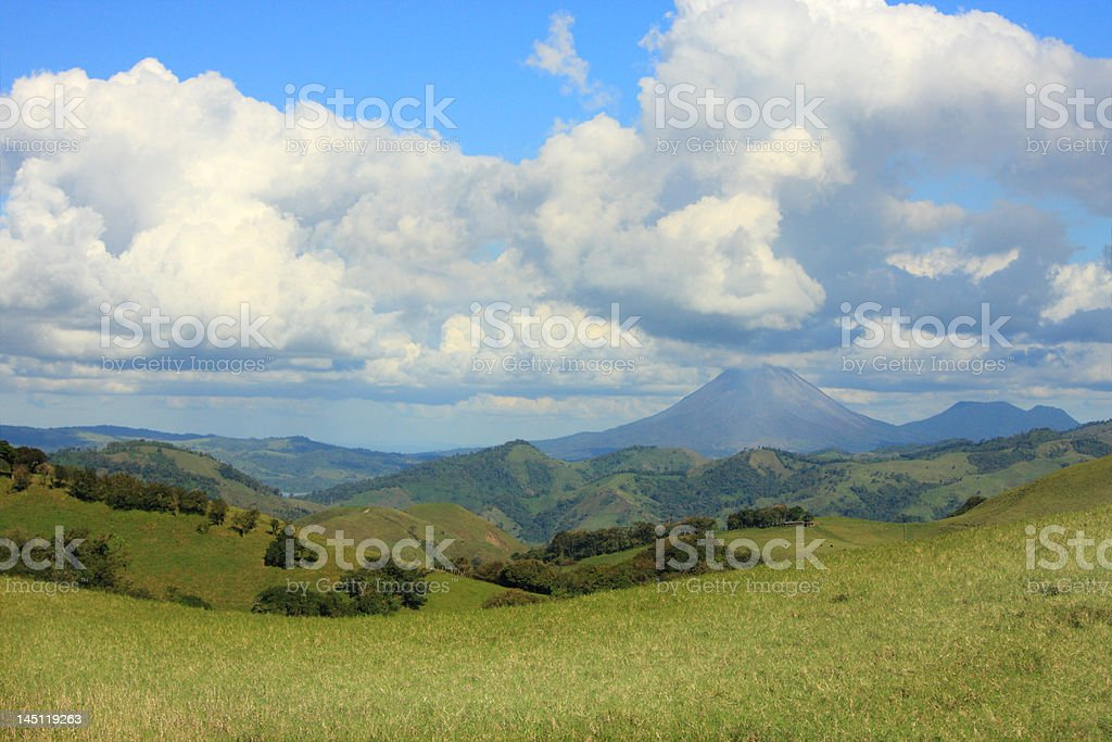 Landscape with the Arenal volcano (Costa Rica) royalty-free stock photo