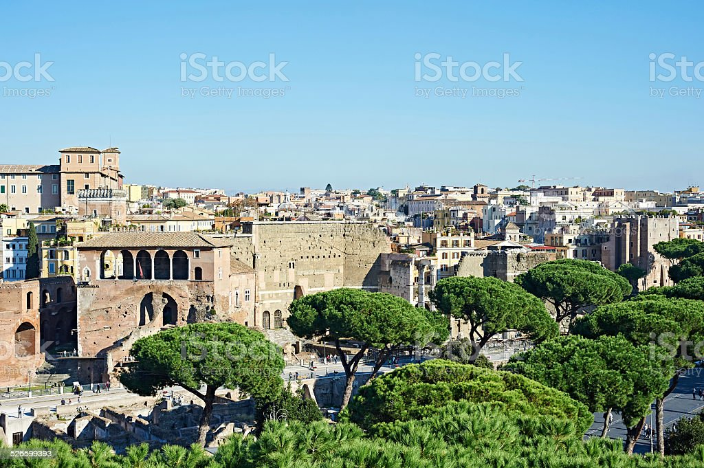 Landscape with views of city Rome stock photo