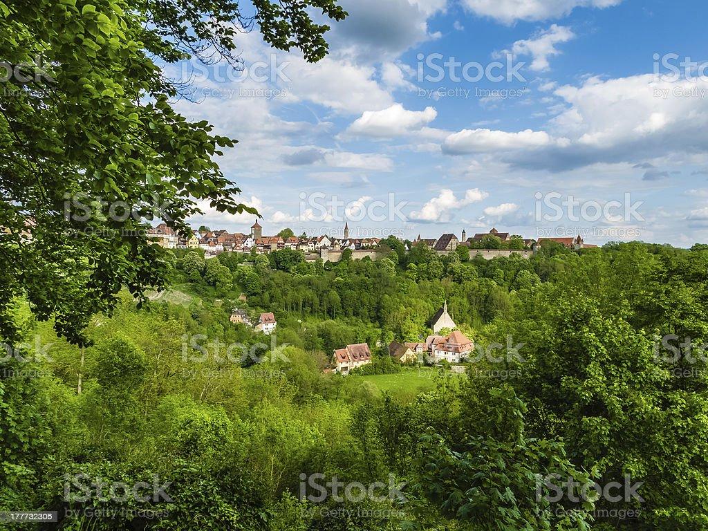 Landscape with village stock photo