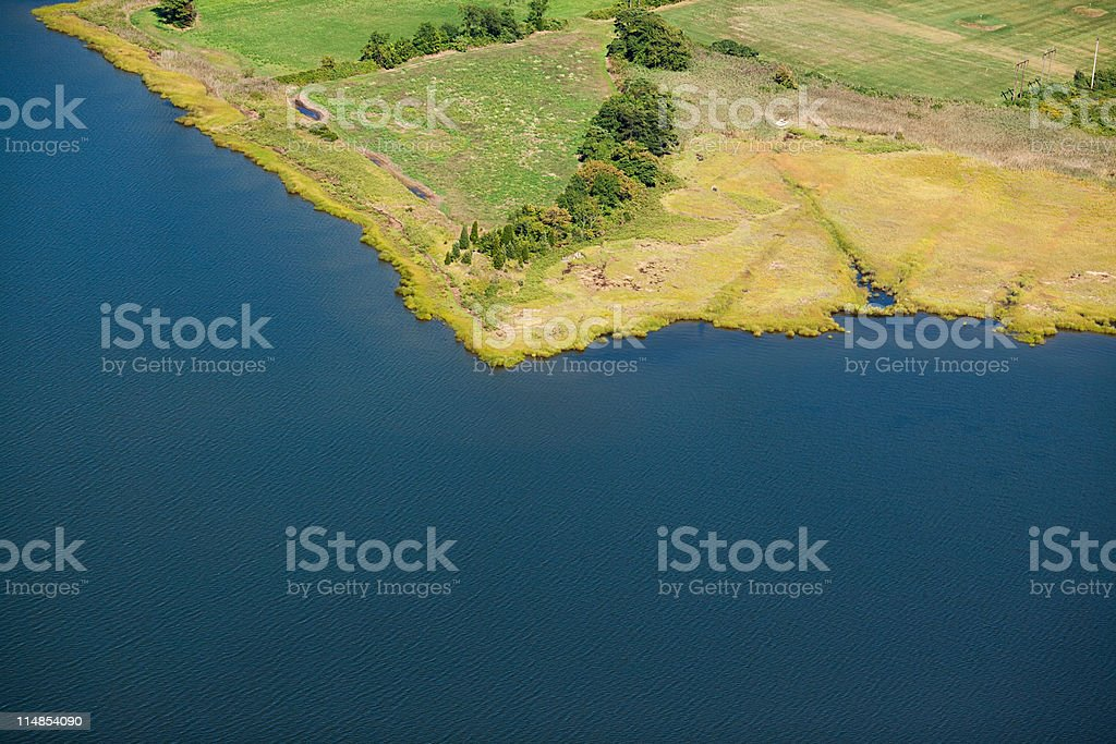 Landscape with water, Newport County, Rhode Island, USA stock photo