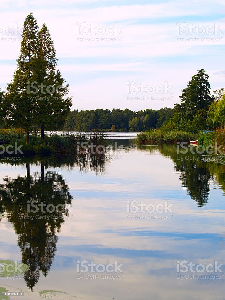Landscape with water royalty-free stock photo