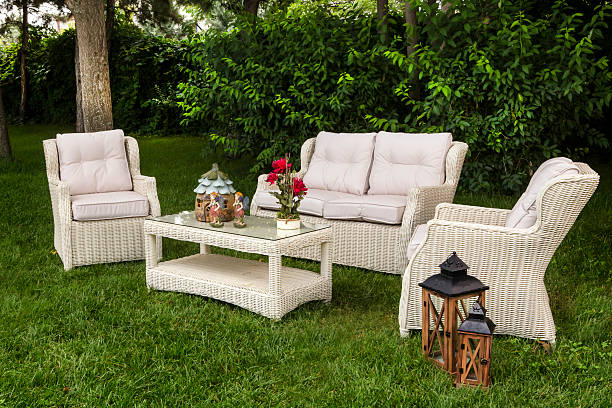 Winning White Garden Furniture At Landscaped Back Yard Patio With Tree  With Engaging Landscaped Back Yard Patio Garden With Outdoor Furniture Stock Photo With Charming Utube Night Garden Also Hirons Garden Centre In Addition Larmer Tree Gardens Map And Garden Bush As Well As Aske Gardens Additionally Cronton Garden Centre From Istockphotocom With   Engaging White Garden Furniture At Landscaped Back Yard Patio With Tree  With Charming Landscaped Back Yard Patio Garden With Outdoor Furniture Stock Photo And Winning Utube Night Garden Also Hirons Garden Centre In Addition Larmer Tree Gardens Map From Istockphotocom
