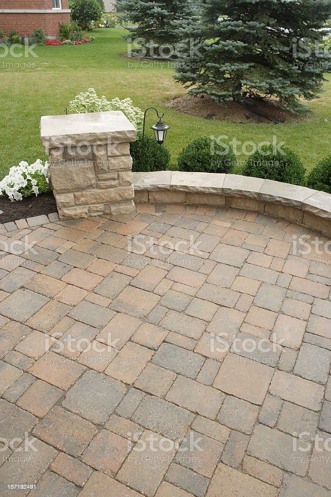 Landscaped backyard royalty-free stock photo