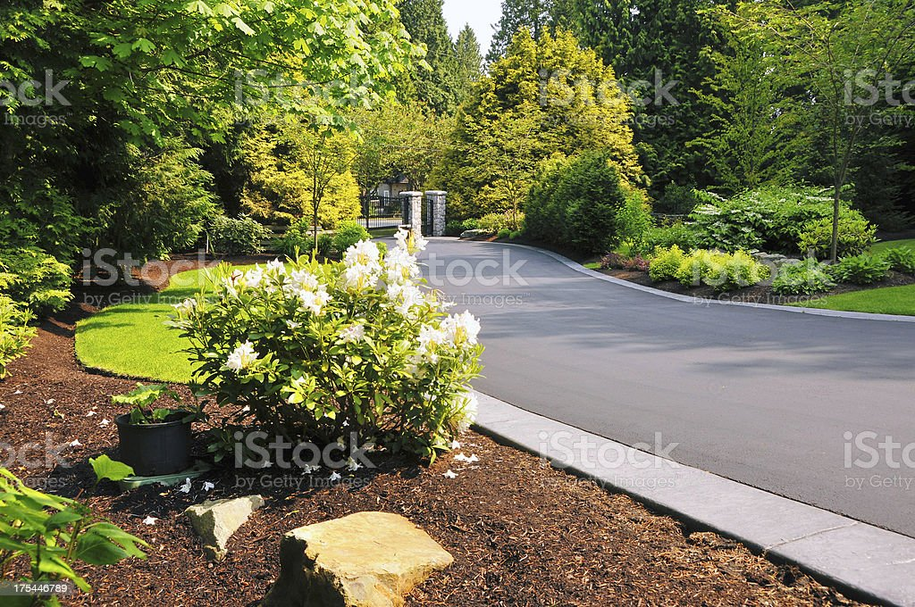 Landscaped Driveway stock photo
