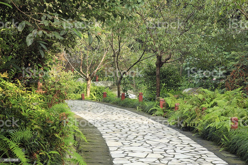 Landscaped Garden Path stock photo