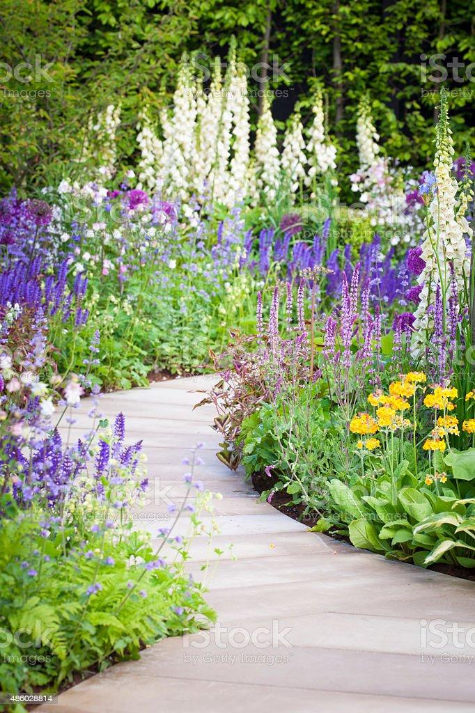 Landscaped Garden stock photo