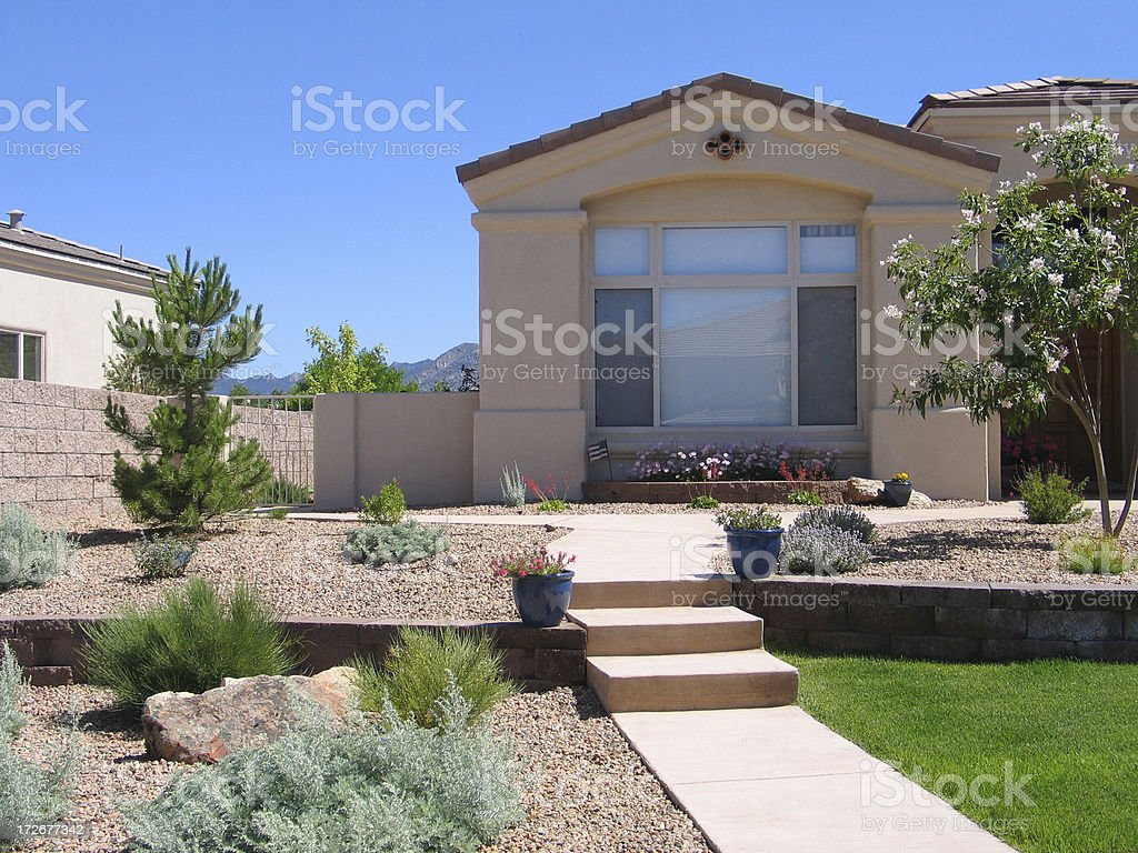 Landscaped Home 2 stock photo