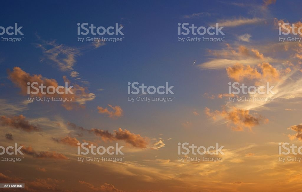 Landscaped Hues of Sunset royalty-free stock photo