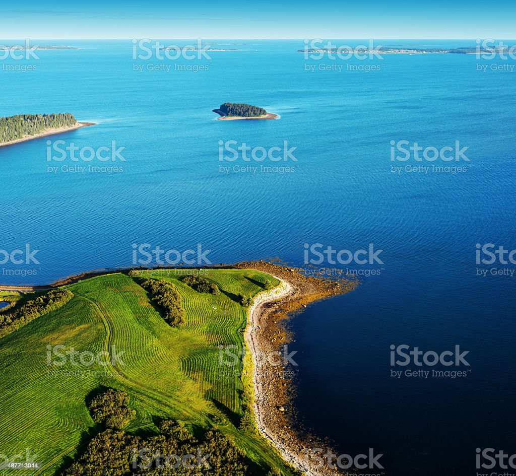 Landscaped Shores stock photo