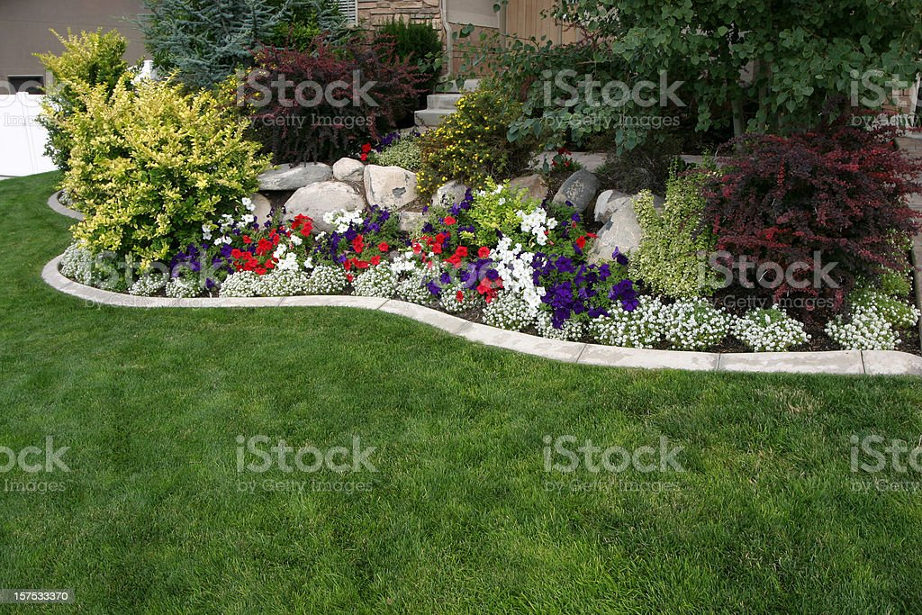 Landscaped Yard royalty-free stock photo