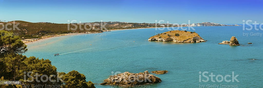 SUMMER:SEA LANDSCAPE.Gargano coast: Bay Vieste.PUGLIA, ITALY. stock photo