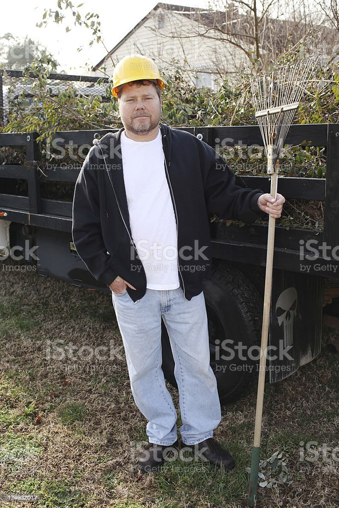 Landscaper royalty-free stock photo