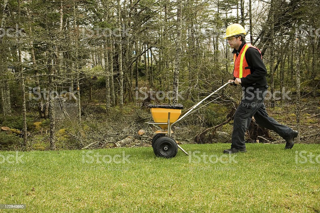 Landscaper/Lawn care worker royalty-free stock photo
