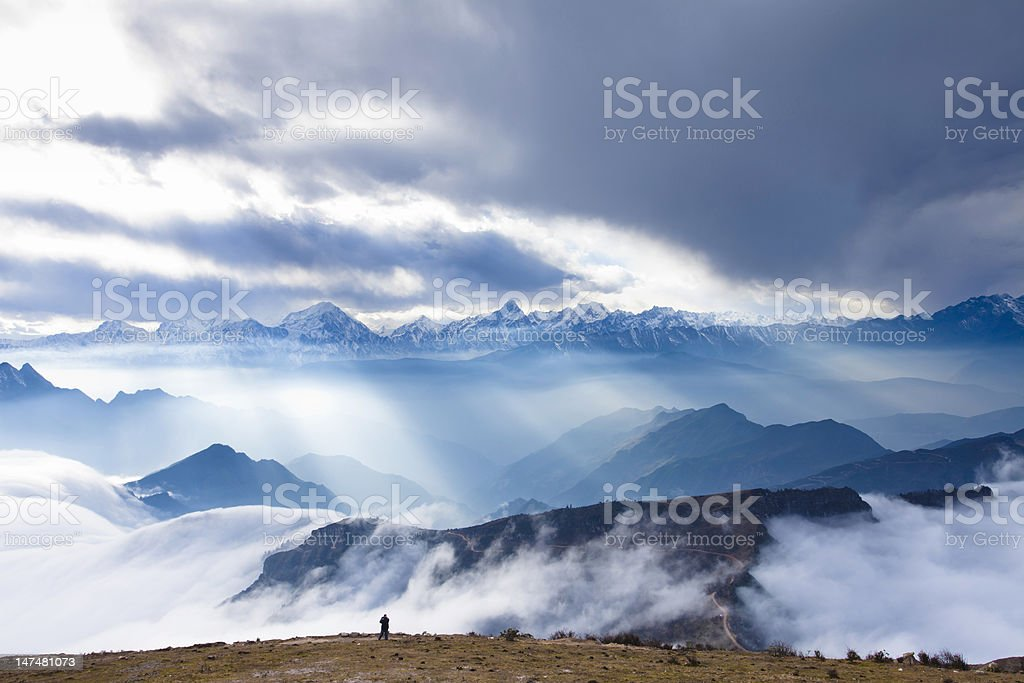 Landscapes in china stock photo