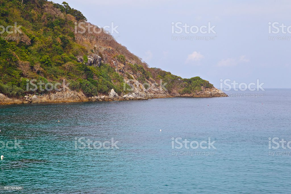 landscapes in Koh Racha, Thailand stock photo