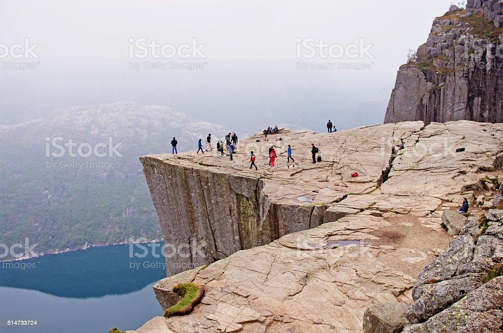 Landscapes in mountains.Preikestolen, Norway stock photo