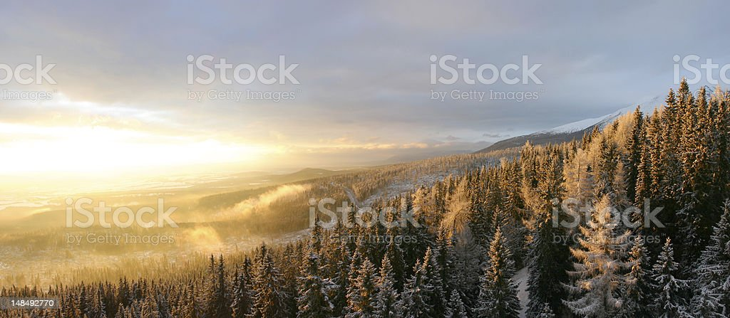 Landscapes in slovakia stock photo