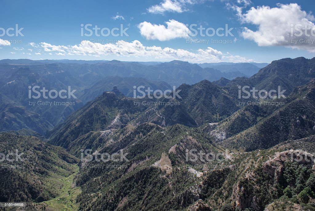 Landscapes of Copper Canyons in Chihuahua, Mexico stock photo
