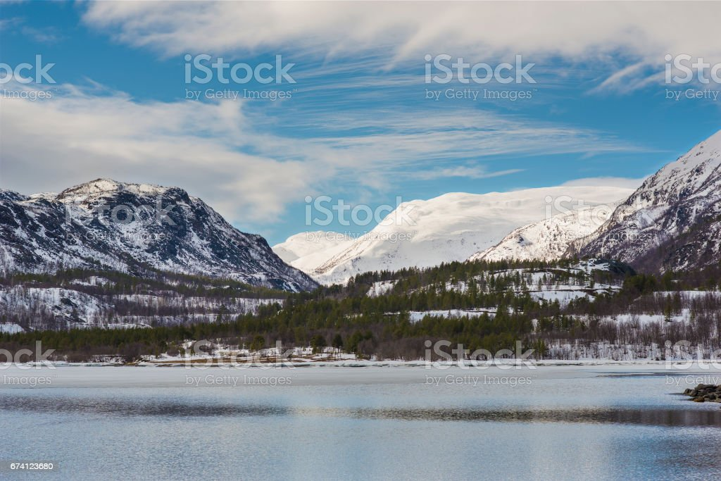Landscapes of Norway stock photo