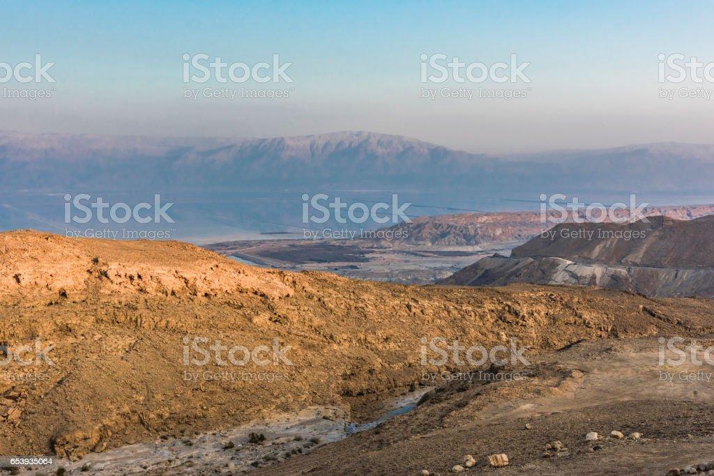 Landscapes of the Negev desert stock photo