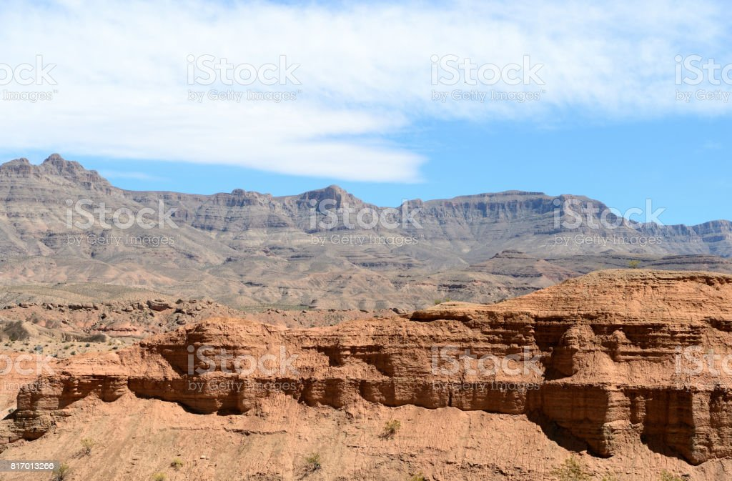 Landscapes on Pierce Ferry Road, Meadview. Grand Canyon National park, Arizona, USA stock photo