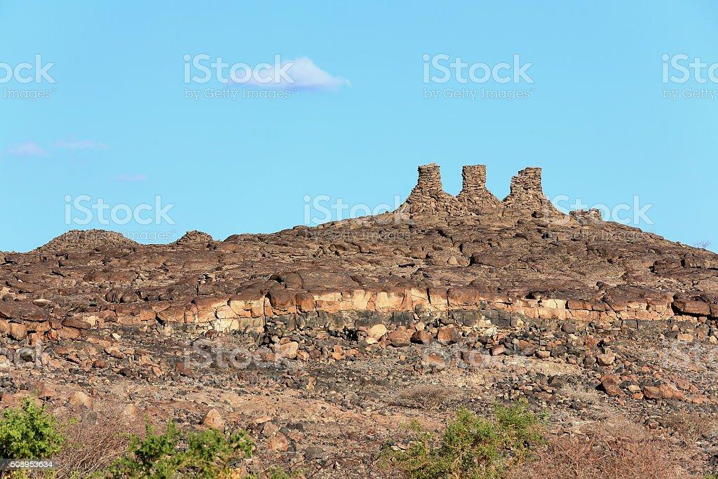 Landscape-SE.section of Danakil desert. Afar region-Ethiopia. 0129 stock photo