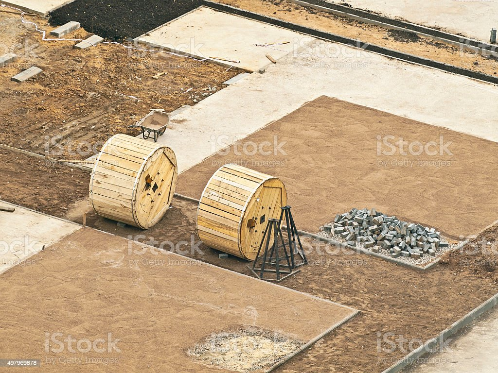 landscaping materials stock photo