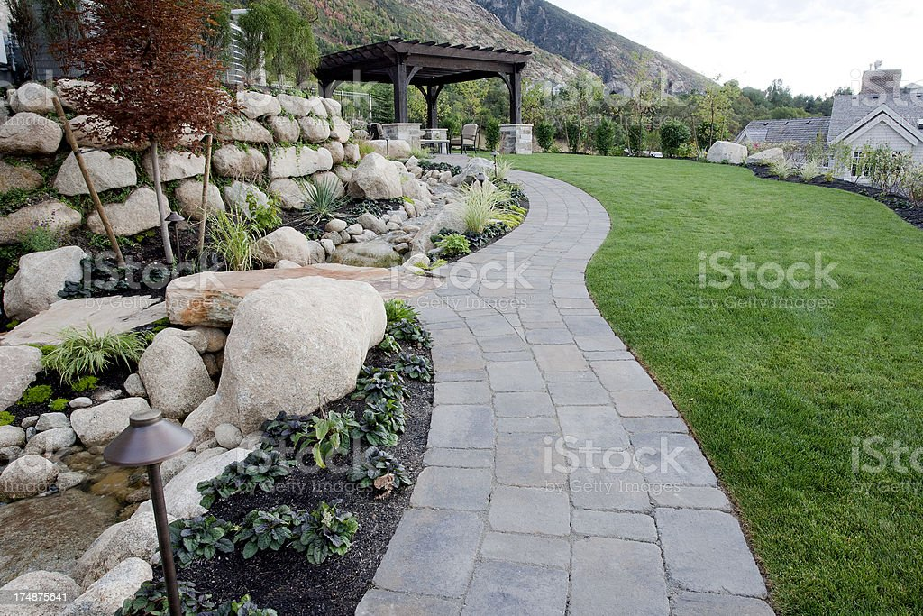 Landscaping stock photo