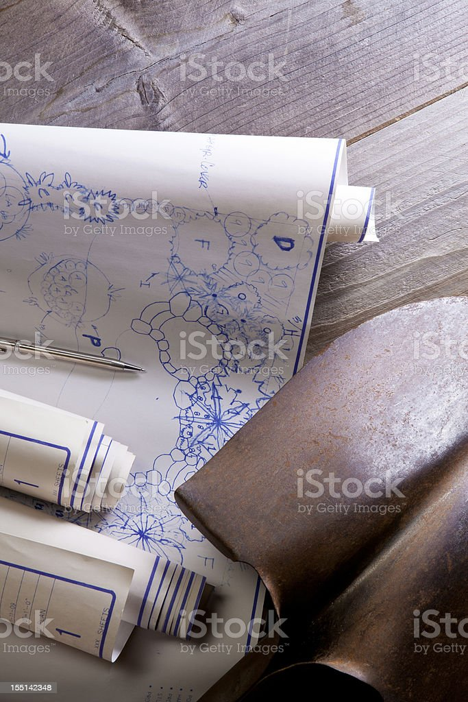 Landscaping Plans royalty-free stock photo