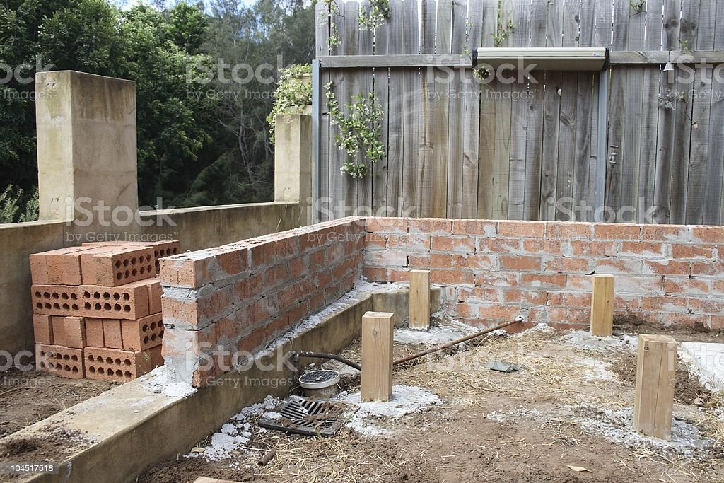 Landscaping project royalty-free stock photo