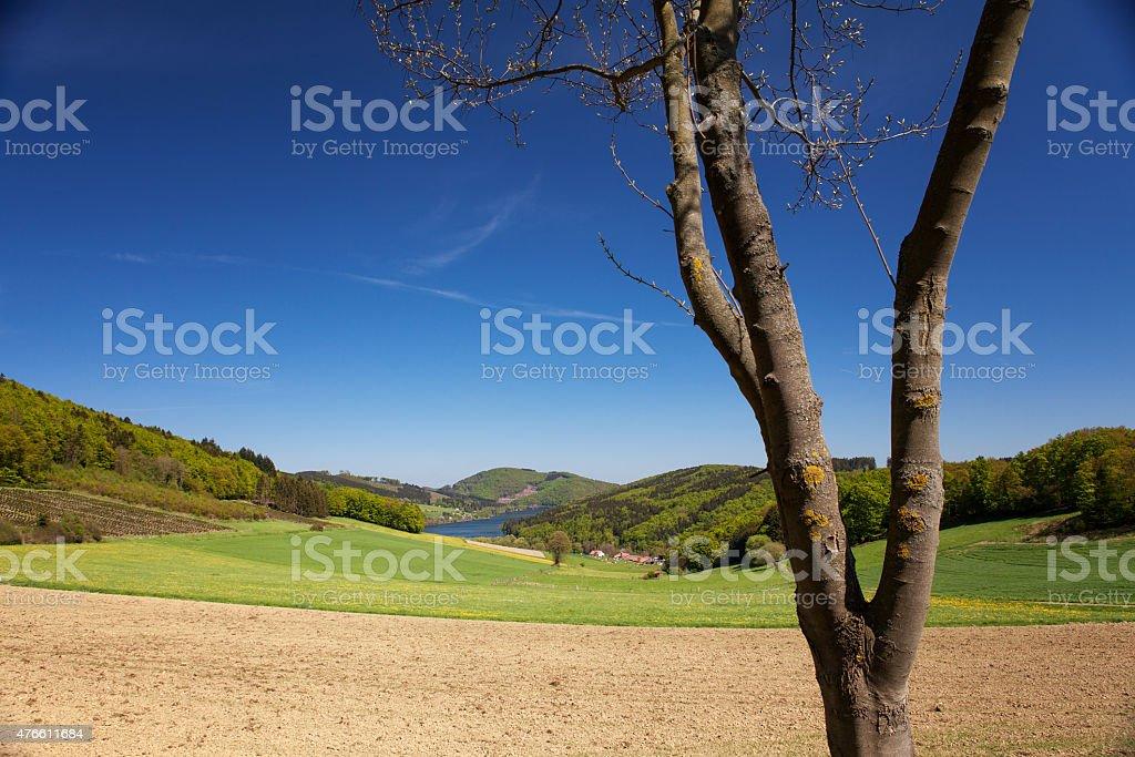 Landschaft in Deutschland bei blauem Himmel royalty-free stock photo