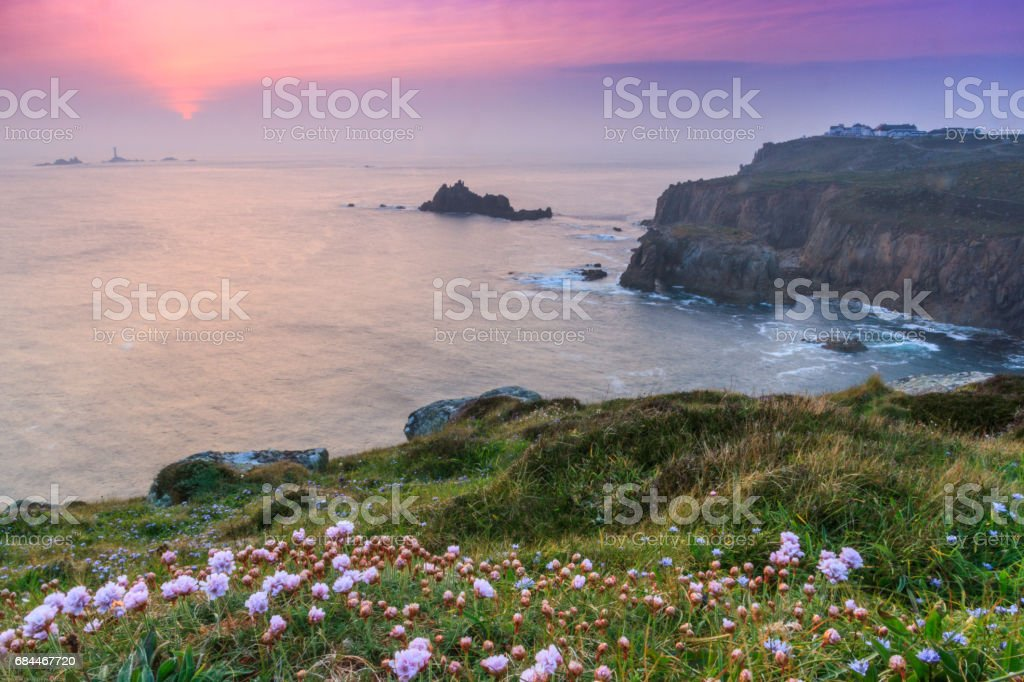 Landsend Sunset stock photo