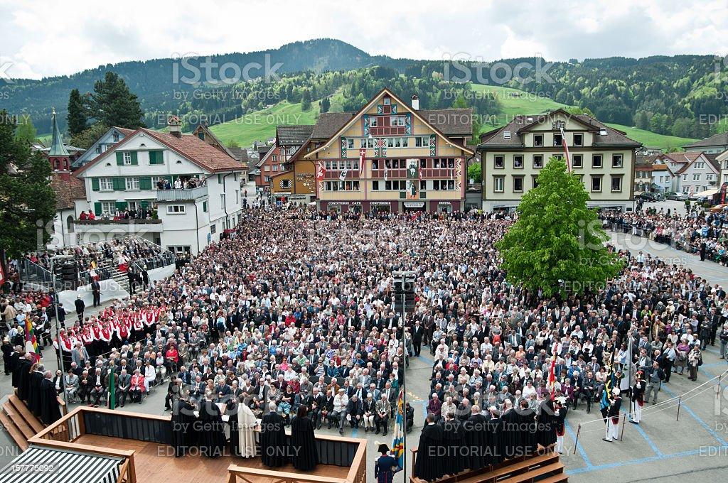 Landsgemeinde in Appenzell, Switzerland stock photo