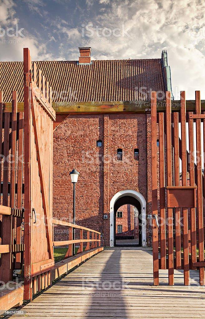 Landskrona citadel in sweden royalty-free stock photo