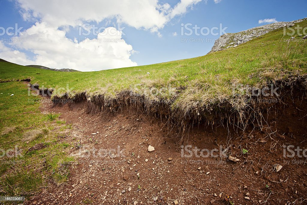 Landslide royalty-free stock photo