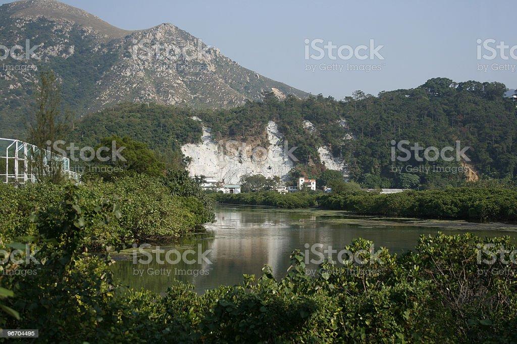 Landslide royalty-free stock photo
