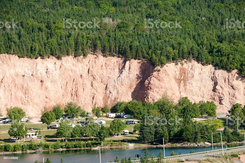 Landslide Risk Area stock photo