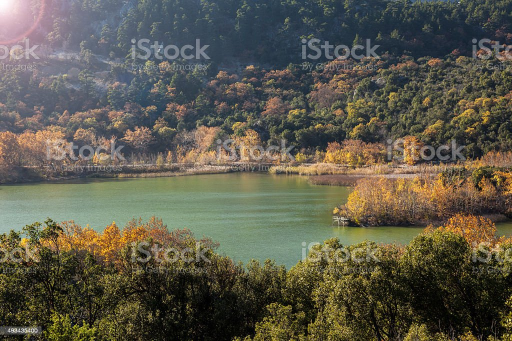 Landspae Of Kovada Lake In Autumn Near Isparta,Turkey stock photo