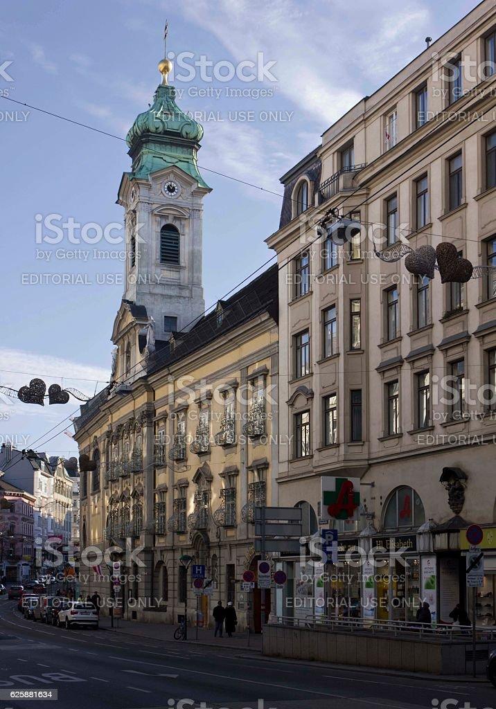 Landstrasse street in Vienna stock photo