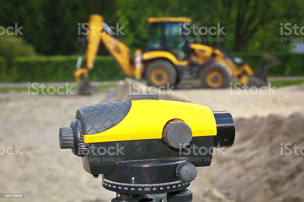 Landsurveyor equipment royalty-free stock photo