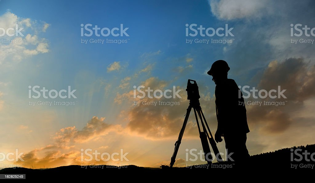 Land-surveyor stock photo