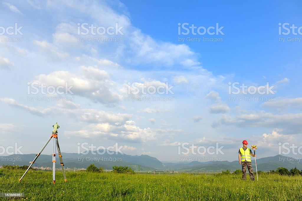 Land-surveyor royalty-free stock photo